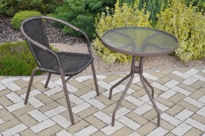Zahradní nábytek kov + umělý ratan 1+1