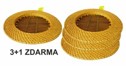 Bambusovo ratanový tácek žlutý 3+1 ZDARMA