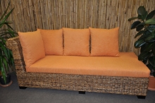 Odpočinková pohovka Lazy pravá banánový list polstr oranžový