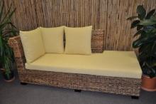 Odpočinková pohovka Lazy pravá banánový list polstr žlutý