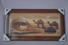 Obraz Sahara 56x30 tmavý rám O3