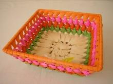 Miska palmový list čtverec