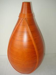 Bambusová váza s ratanem OR