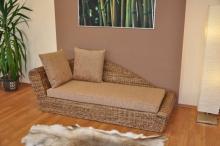 Odpočinková pohovka pravá  banánový list polstr hnědý