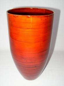 Bambusová váza optima červená