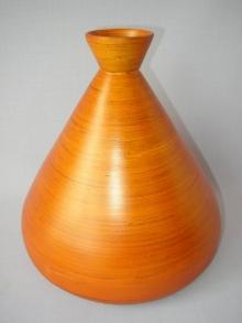 Bambusová váza široká oranžová