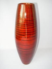 Bambusová váza vysoká červená