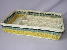 Ratanový košík příborník žlutý