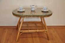 Ratanový stolek Fabion oválný brown wash