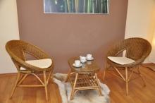 Ratanová sedací souprava Ebony brown wash oválný stolek