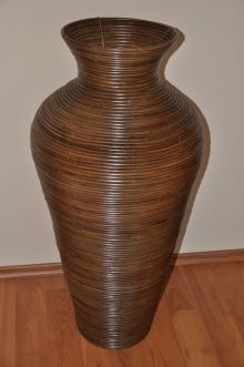 Váza ratanová hnědá M