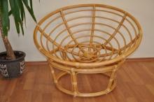 Ratanový papasan 110 cm medový - konstrukce bez polstru