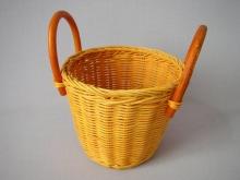 Ratanový košík ucha žlutý