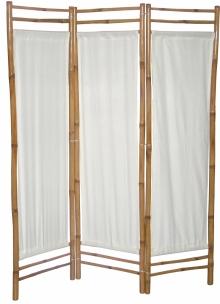 Bambusový paravan bílé plátno - vzhledové vady