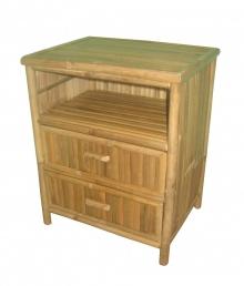 Komoda bambusová 2 zásuvky