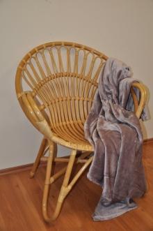 Ratanové křeslo Lentera medové plus deka