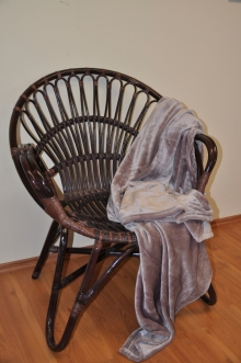 Ratanové křeslo Lentera hnědé plus deka