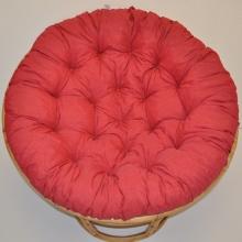 Polstr deluxe na křeslo papasan 110 cm - červený melír