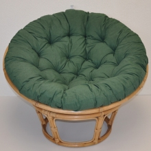 Ratanový papasan 110 cm medový polstr zelený tmavý melír