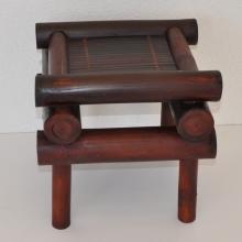 Bambusová stolička hnědá