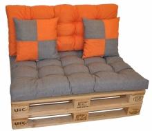 Sada polstrů veselá paleta - šedo oranžová